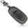 Schlüssel Hülle passend für AUDI Schlüssel Cover Typ-B8 Leder schwarz rot 4D