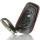 Schlüssel Hülle passend für BMW Schlüssel Cover Typ-B30 Leder  schwarz rot