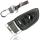 Schlüssel Hülle passend für BMW Schlüssel Cover Typ-B20 Leder schwarz rot 4D