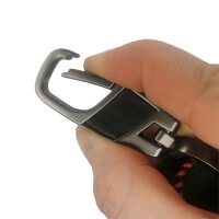 Schlüssel Hülle passend für Mercedes Benz Schlüssel Cover Typ-203 Leder schwarz rot