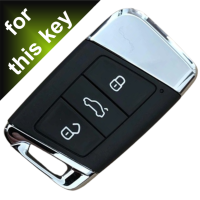 Schlüssel Hülle passend für VW Skoda SEAT Schlüssel Cover Typ-B8 Leder schwarz rot