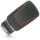 Schlüssel Hülle passend für AUDI Schlüssel Cover Typ-B9 Silikon schwarz-rot