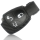 Schlüssel Hülle passend für Mercedes Benz Schlüssel Cover Typ-203 Silikon Carbon schwarz