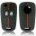 Schlüssel Hülle passend für OPEL Schlüssel Cover Typ-J Silikon schwarz-rot